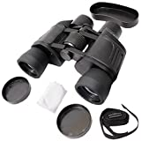 COMET 8x40mm Powerful Prism Binocular Telescope Outdoor With Pouch - Black