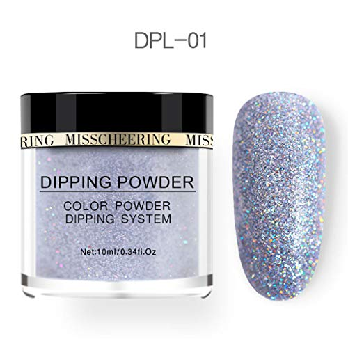 Outique Glitter Nail Art Polymer Acrylic Powder Extension Dipping Shiny Powder Nail Art- Simple and Quick to Apply