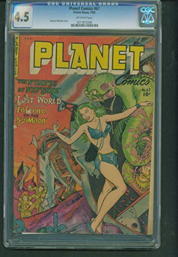 (PLANET COMICS 67 CGC 4.5 SCARCE CLASSIC Maurice Whitman Cover)