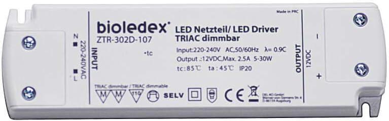 BIOLEDEX ® 6 W DEL transformateur 12 V DC