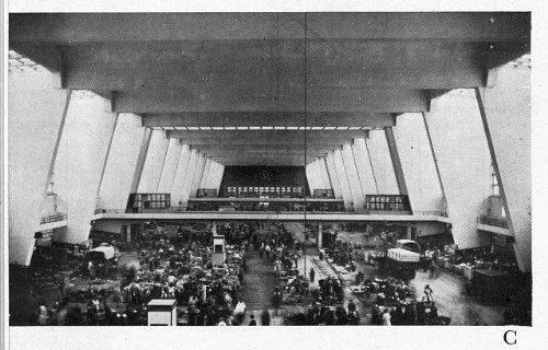 Photo: Interior, Market Hall, Frankfurt am Main, Germany, 1953 1 . Size: 8x10 (Frankfurt Halloween)