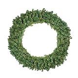 48'' Pre-Lit Canadian Pine Artificial Christmas Wreath - Multi Lights