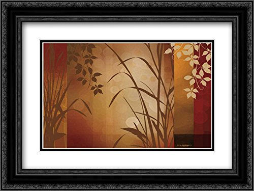 (Flaxen Silhouette 2X Matted 24x18 Black Ornate Framed Art Print by Aparicio, Edward)