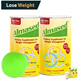 ALMASED® Diet Protein Powder - 2 Pack + Free Stress Balls. Weight Loss Protein Support - Optimal Maximum Health and Energy - Lose Weight and Keep the Weight Off - (17.6 ounce each) Almased®