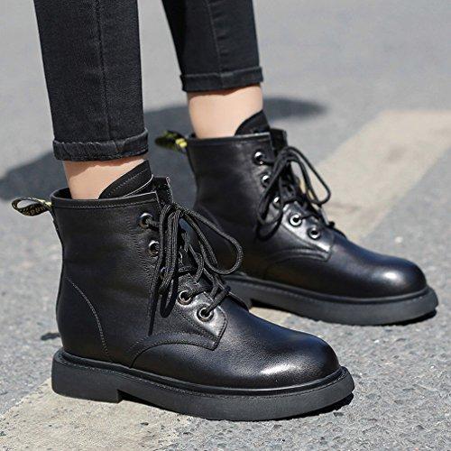 Botas Zapatos Botas de Estación Europea Botas ANI en Negro Mujer Primera Perla Mujer de el Martin Tubo w0YY8dgq1