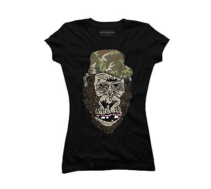 7fc6deee Gorilla Warfare Juniors' Small Black Graphic T Shirt - Design By Humans