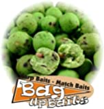 Bag Up Baits Green Lip Mussel 14mm Big Carp & Barbel Green Boosted Boilies 100gm Session Pack - '' Top Selling Boilies '' Free Delivery