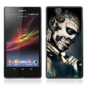 Designer Depo Hard Protection Case for Sony Xperia Z L36H / Gothic Skull Tattoo by icecream design