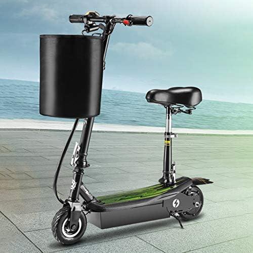 """電動スクーターアダルト、350Wモーター、24Vバッテリー、最大25Km / h、6.5""""タイヤ、調整可能E-スクーター、電動スクーターを通勤するポータブル折りたたみデザイン、シート付き"""