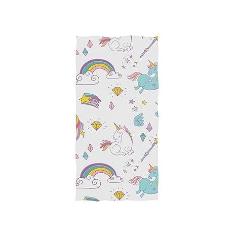 DragonSwordlinsu Toalla de Mano con diseño de Unicornio Coosun Suave Toalla de baño ecológica para el