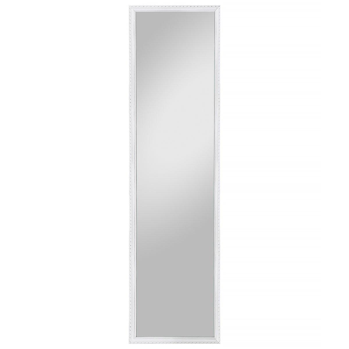 Spiegelprofi Rahmenspiegel, Holz, weiß, 35 x 125 cm