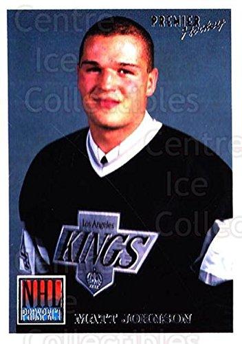 (CI) Matt Johnson Hockey Card 1994-95 OPC Premier (base) 339 Matt Johnson -