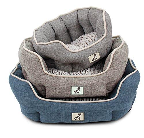 AllPetSolutions Alfie Range Beds Fleece Lined Warm Dog Bed, Small, Brown 2