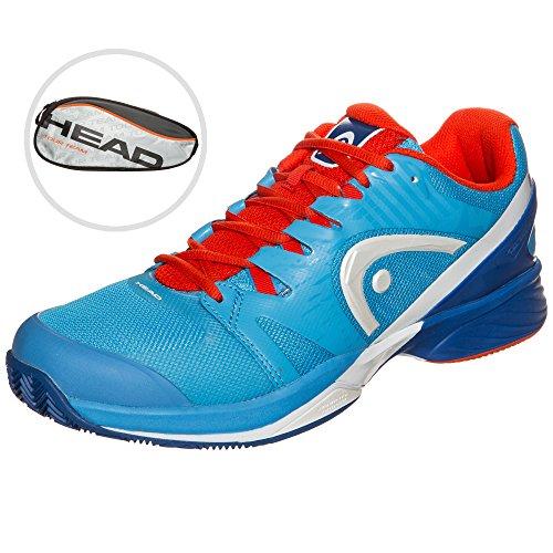 Head - Nitro Pro Clay chaussures de tennis pour hommes (bleu/orange) - EU 42,5 - UK 8,5