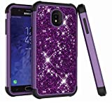 DAMONDY Galaxy J7 Refine/J7 2018/J7 Star/J7 Top Case Bling Glitter 3 in 1 Drop Protection Shock Absorption Non Slip Hybrid Dual Layer Armor Defender Protective Full Body Case Cover-Purple-Black For Sale