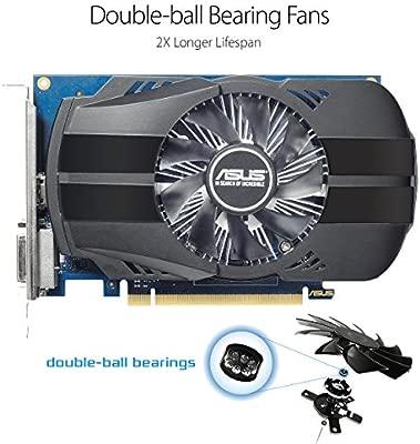 ASUS PH-GT1030-O2G - Tarjeta gráfica (NVIDIA GeForce GT 1030, 2 GB GDDR5, 1920 x 1200 Pixeles, 1252 MHz, 1506 MHz) Color Negro