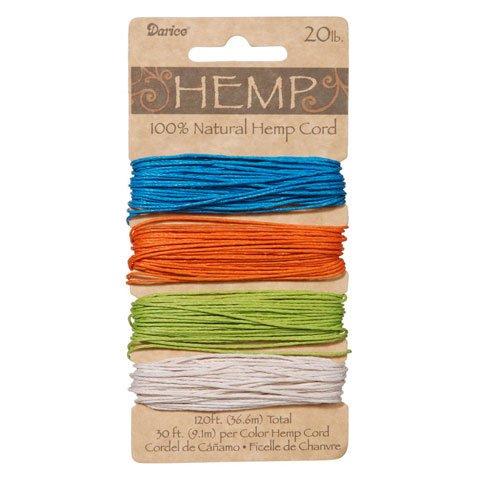 Bulk Buy: Darice DIY Crafts Hemp Cord Set Assorted Brights 2