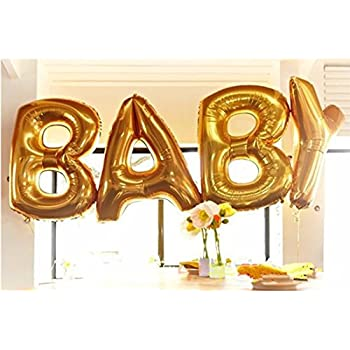 b g baby shower decorations balloons 40 inch gold large baby letter balloons cute for