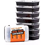 Evolutionieren Healthy Meal Prep Containers - Certified BPA-free - Reusable, Washable, Microwavable Food Containers/Bento Box with Lids (7 Pack, Single Compartment, 28 Ounce)