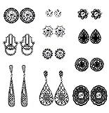 Best Earrings For Girls Women - Milacolato Boho Stud Earrings Bohemian Retro Vintage Earrings Review