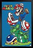 Pyramid America Super Mario Bros Mario Jump Nintendo Framed Poster 12x18 inch