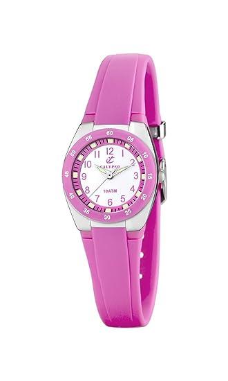Calypso Watches K6043 - Reloj Analógico de Cuarzo para Mujer, Correa de Plástico Color Rosa: Amazon.es: Relojes