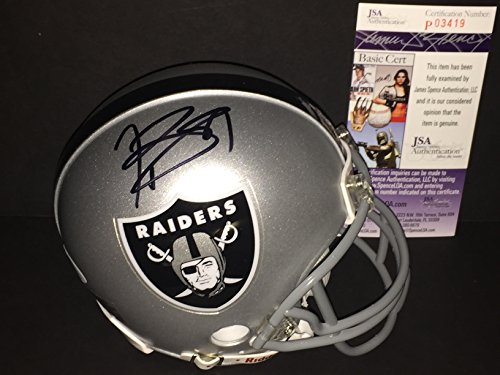 Tim Brown Oakland Raiders Autographed Signed Mini Helmet JSA COA by SidsGraphs