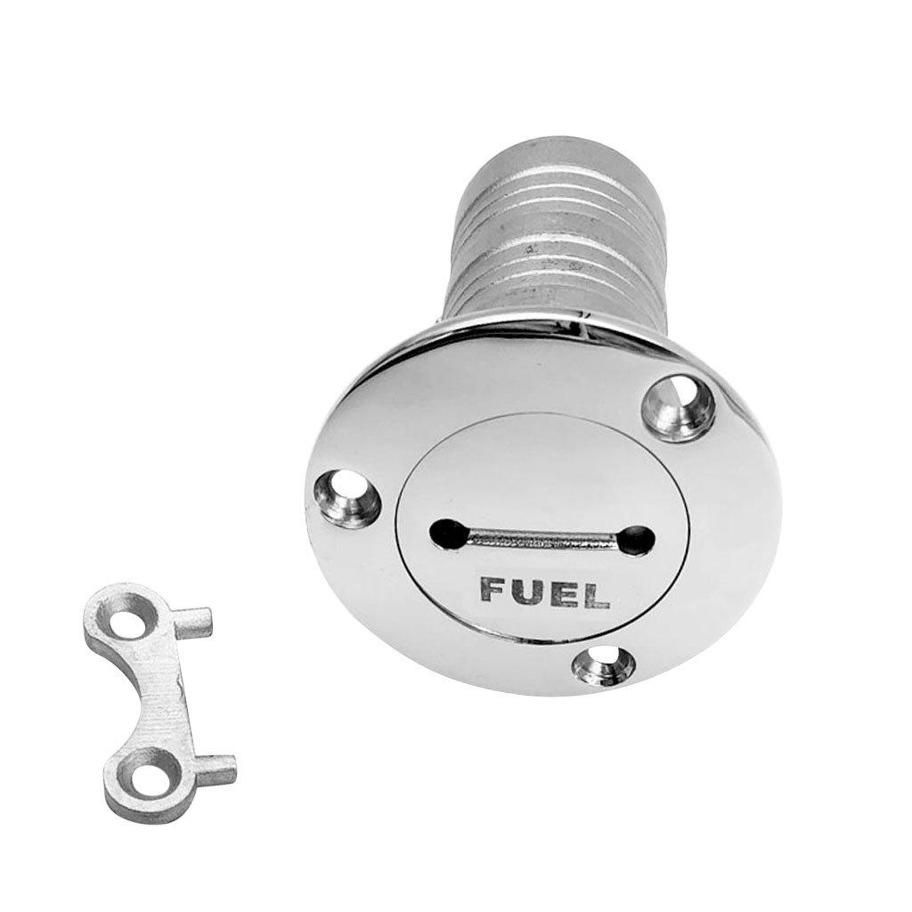 Dovewill 38mm 1-1/2'' Flush Mount Fuel Deck Filler - Petrol/Gas/Water/Diesel - Boat/Caravan/RV Tank Fill - Marine Grade 316 Stainless Steel