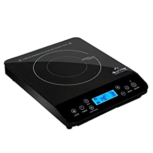 Duxtop LCD 1800-Watt Portable Induction Cooktop Countertop Burner Sensor Touch Stove 9610LS, 1800w Black