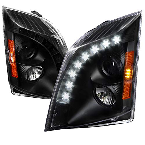 Velocity Concepts For Cadillac CTS SMD LED DRL Projector Headlights Black Head Lamps