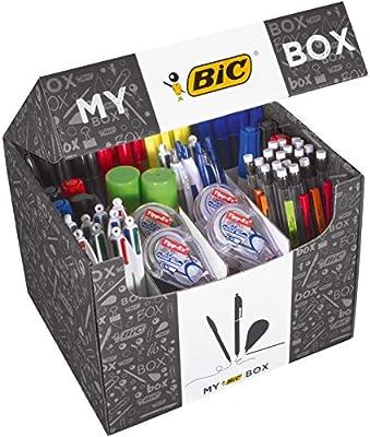 My BIC Box Caja de 124 productos de escritura – 75 bolígrafos, 24 ...