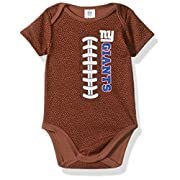 NFL New York Giants Boys Football Bodysuit, 3-6 Months, Brown