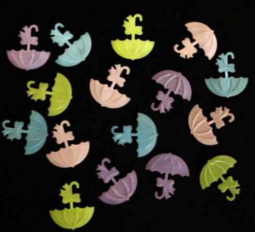 Tanday Parasol Confetti for Baby Shower - Pastel Colors 15g