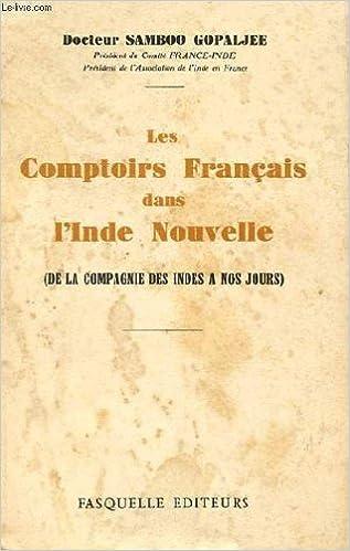 Amazonfr Les Comptoirs Francais Dans Linde Nouvelle Docteur