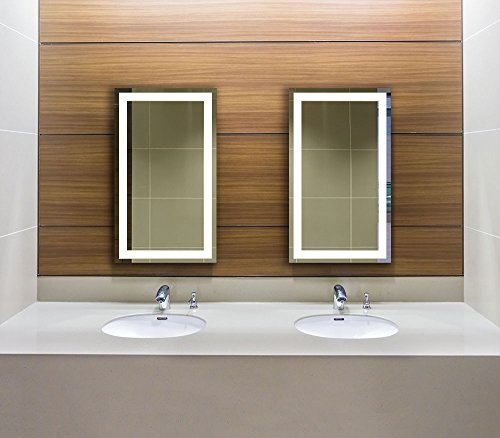 Lighted Led Frameless Backlit Wall Mirror Polished Edge Import It All