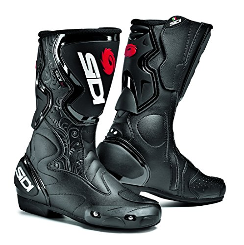 Sidi Fusion Lei Ladies Motorcycle Boots Black US7/EU39 (More Size (Sidi Touring Boot)