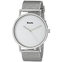 Roots Women's 1R-LF131WH0 Muskoka 38 Analog Display Japanese Quartz Silver Watch