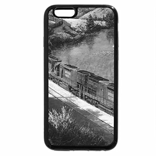 iPhone 6S Case, iPhone 6 Case (Black & White) - Winter on the Truckee River
