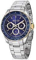 SO&CO York Men's 5010B.3 Monticello Analog Display Quartz Silver Watch by SO&CO MFG