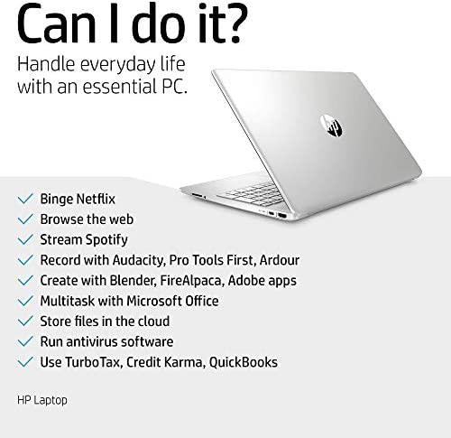 HP 15-Inch FHD Laptop, 10th Gen Intel Core i5-1035G1, 8 GB RAM, 256 GB Solid-State Drive, Windows 10 Home (15-dy1036nr, Natural Silver) (Renewed) WeeklyReviewer