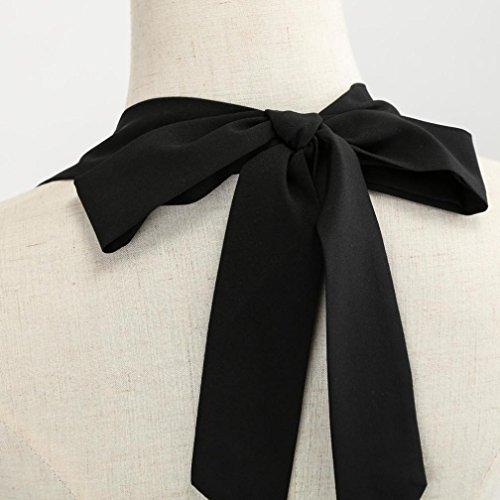 FeiXiang S~XXL Pois Soire Vintage Robe de Audrey 1950's up Blanc Style Cocktail Hepburn Annes pin Robe Halter 50 arwxZa