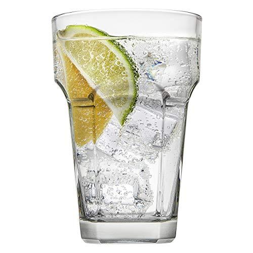 Godinger Highball Glasses, Tall Beverage Glass Cups, Italian Made – 13oz, Set of 4