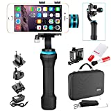 Neewer 3-Axis Brushless Motorized Handheld Gimbal Stabilizer and Cleaning Kit for GoPro Hero 3+/4 and Smartphones (2.2-3.6 inches Width) Such as iPhone 7/7plus/6s/6s plus,SAMSUNG Galaxy S6 (NWHG-01)