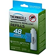 Thermacell Mosquito Repellent Refills, 48-Hour Pack; Contains 12 Repellent Mats, 4 Fuel Cartridges; Compatible with Any…