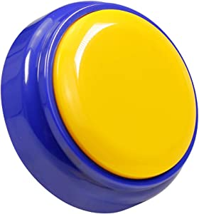 Recorder Button 30 Second, Recordable Talking Button, Record Sound Button for Gift Education Includes 2 AAA Batteries(Yellow+Blue)