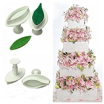 Amazon.com: Lily Flower Fondant Plunger Cutter Mold Cake Sugarcraft Decorating BML Brand // Lirio de la pasta de azúcar flor del molde del cortador del ...