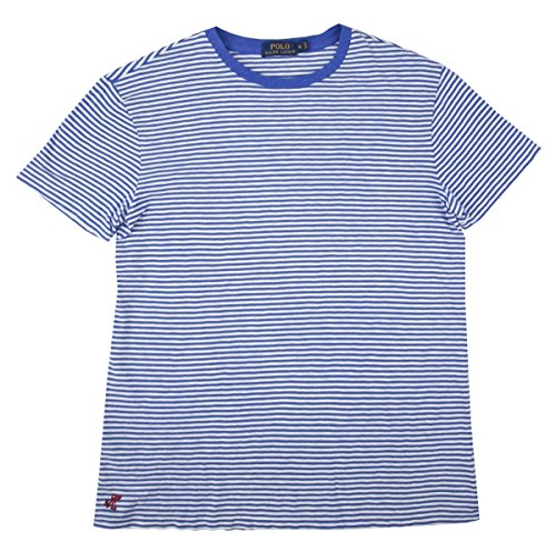 Polo Ralph Lauren Men's Striped T-Shirt (Blue/White, - Lauren Striped Ralph