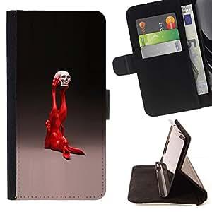 Momo Phone Case / Flip Funda de Cuero Case Cover - Pop Art Conejo;;;;;;;; - Samsung Galaxy J1 J100