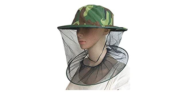Da.Wa 1 PEC Gorro de poli/éster Verde Anti Abeja Anti Mosquitos Malla Exterior