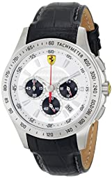 Ferrari Men\'s 0830038 Analog Display Japanese Quartz Black Watch